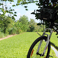 Bike rest in the Mekong Delta in Cambodia. Photo via TO.