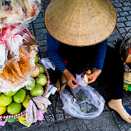 Street fruit in Saigon, Vietnam. Photo via Flickr:Nam Ng.