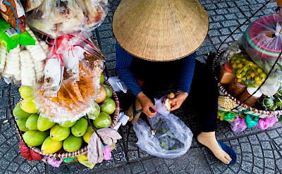 Street fruit in Saigon, Vietnam. Photo via Flickr:Nam Ng.