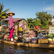 Floating markets is how one shops in Vietnam. Photo via Flickr:Phil Norton