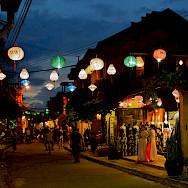 Lanterns aglow in Vietnam. Photo via Flickr:filippog