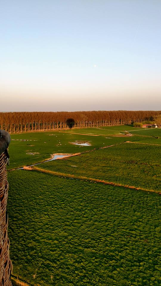 View of countryside near Bruges.