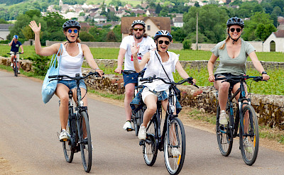 Woohoo... we're on the way! Wining and dining and biking in Burgundy, France.