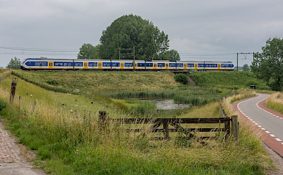 Bike paths and trains in Culemborg, Gelderland, the Netherlands. Flickr:Rob Dammers