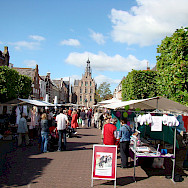Market in Culemborg, Gelderland, the Netherlands. Wikimedia Commons:Arch-PublicDomain