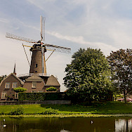 Windmill in Culemborg, Gelderland, the Netherlands. Wikimedia Commons:Michielverbeek