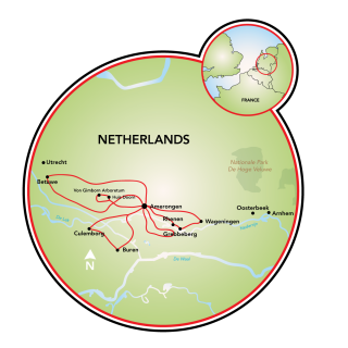 Holland - Past and Present Map
