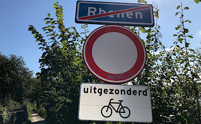 Bike sign in Rhenen (no vehicles except bikes allowed!), the Netherlands. Photo by Hennie