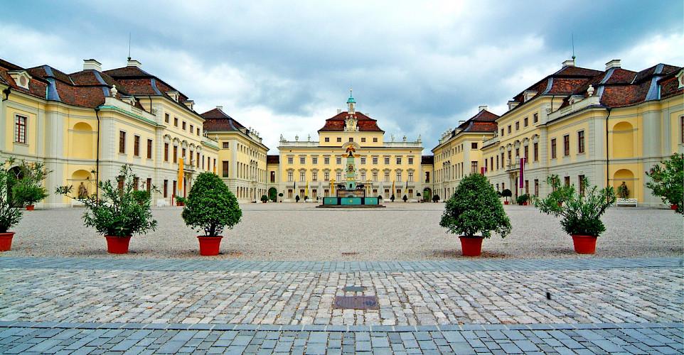 Courtyard of Ludwigsburg Palace, Ludwigsburg, Germany. Wikimedia Commons:Gregorini Demetrio