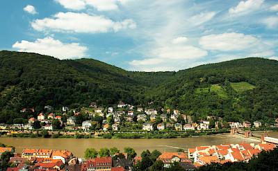 The Mainz and Neckar Rivers run through Heidelberg, Germany. Flickr:dmytrok