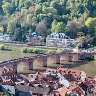 Alte Brucke in Heidelberg over the Neckar River in Germany. Flickr:Gunter Hentschel