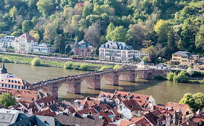 Alte Brucke in Heidelberg over the Neckar River in Germany. Flickr:Gunter Hentschel