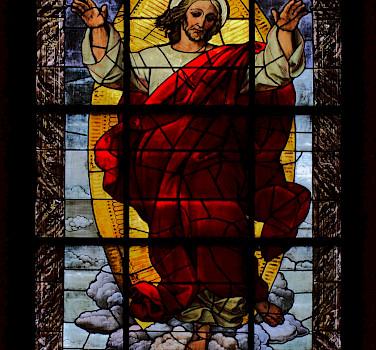 Stained glass in Providenzkirche, Heidelberg, Germany. Flickr:stanze