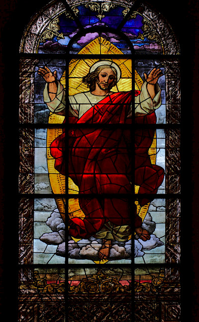 Stained glass in Providenzkirche, Heidelberg, Germany. Flickr:stanze