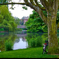 Bike rest in Vondelpark in Amsterdam, North Holland, the Netherlands. Flickr:Moyan Brenn
