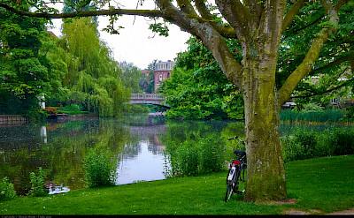 Bike rest in Vondelpark in Amsterdam, North Holland, the Netherlands. Flickr:Moyan Brenn