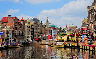 Busy canals in Amsterdam, North Holland, the Netherlands. Flickr:faungg's photos