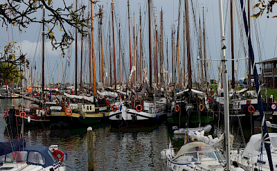 Many boats in Enkhuizen as it sits on the famous IJsselmeer, the Netherlands. Flickr:Marcus Meissner