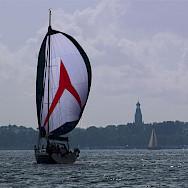 Sailing on the IJsselmeer in the Netherlands. Flickr:Bas Leenders