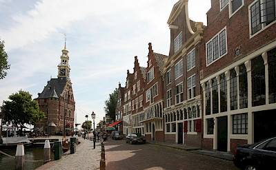 Typical architecture in Hoorn, North Holland, the Netherlands. Flickr:bertknot