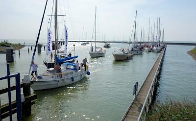 Sailing the IJsselmeer from Stavoren in Friesland, the Netherlands. Flickr:dassel