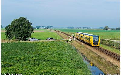 Train ride through Zwolle in Overijssel, the Netherlands. Flickr:Patrick van Hattem