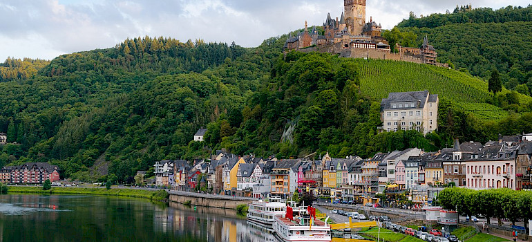 Wine-dominated town of Cochem, Germany. Wikimedia Commons:Kai Pilger