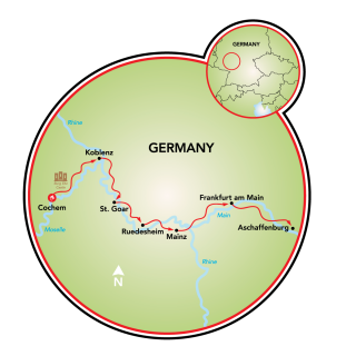 Aschaffenburg to Cochem Map