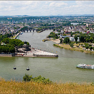 Rhine and Mosel Rivers in Koblenz, Germany. Flickr:Andre Zehetbauer