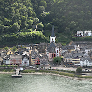 St Goar along the Rhine River in Germany. Flickr:mprinke