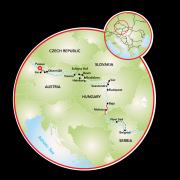 Danúbio no Primadonna: Passau, Belgrado e Viena Mapa