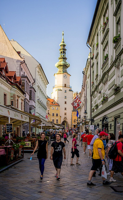 Shopping maybe in Bratislava, Serbia. Flickr:Kurt Bauschardt