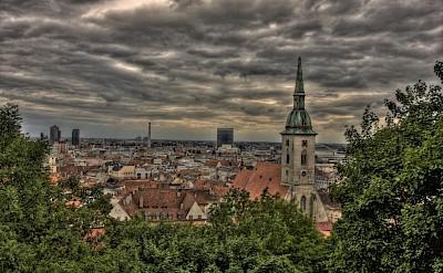 Biking through Bratislava in the Slovak Republic. Flickr:stefanw