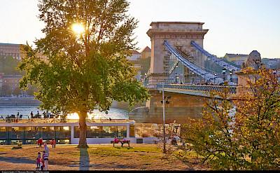 Chain Bridge in Budapest, Hungary. Flickr:Moyan Brenn