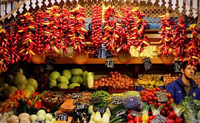 Market in Budapest, Hungary. Flickr:Andreas Lehner