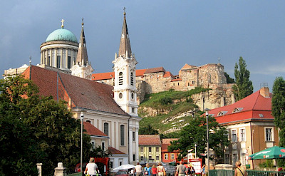 Esztergom, Hungary borders Slovakia and lies on the Danube River. Flickr:tatli-delilik