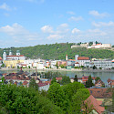 Bike tour starts in Passau along the Danube River in Bavaria, Germany. Flickr:sugarbear96