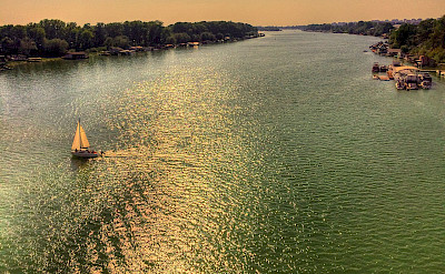 Sava River in Belgrade, Serbia. Wikimedia Commons:darkobajic