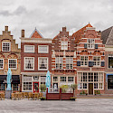 Gorgeous gables in Dordrecht on Statenplein in the Netherlands. Flickr:Paul van de Velde