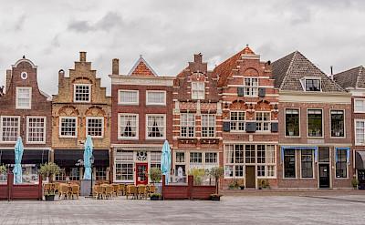 Gorgeous gables in Dordrecht on Statenplein in the Netherlands. Flickr:Paul van de Velde