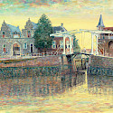 Oil painting of bridge in Zierikzee, the Netherlands. Flickr:Hubertine Heijermans-PublicDomain