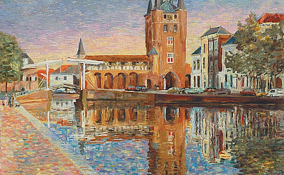 Drawbridge in Zierikzee, the Netherlands by Hubertine Heijermans, 1993