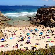 Sun and sand at Porto Covo Beach in Portugal. Flickr:Fiulipe Ramos