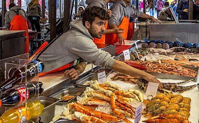 Fish market in Bergen, Norway. Flickr:PapaPiper