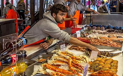 Fish market in Bergen, Norway. Flickr:PapaPiper
