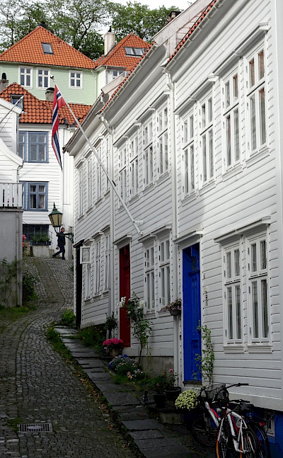 Pretty streets in Bergen, Norway. Photo via TO.