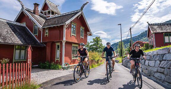 Fjord biking in Sognefjorden, Norway!