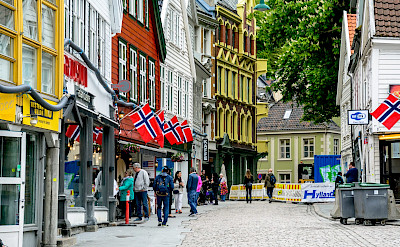 Flags flying in Bergen, Norway. Flickr:dconvertini