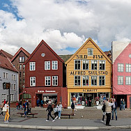 Bryggen is a series of Hanseatic Heritage buildings in Bregen, Norway. Creative Commons:Diego Delso