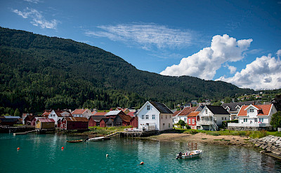 Beautiful Solvorn, Norway. Photo via TO.